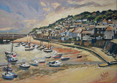 Painting - Sunset Mousehole by Nop Briex
