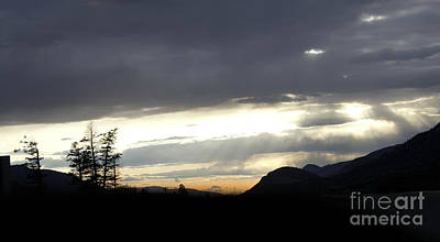 Photograph - Sunset Near Merrit by Donna L Munro
