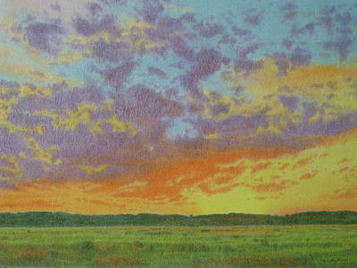 Sunset Near Miles City Art Print