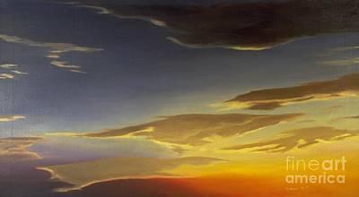 Painting - Sunset Near Rowlett by Mary Erbert