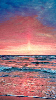 Painting - Sunset Never Ends - 04 by Andrea Mazzocchetti