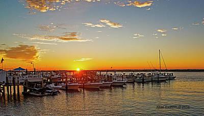 Sunset New Jersey Shore Original by Allan Einhorn