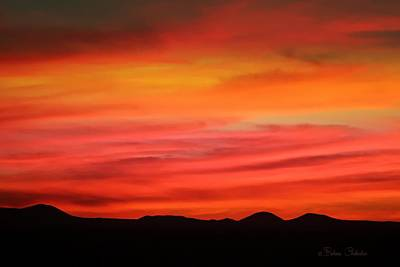Mixed Media - Sunset New Mexico by Barbara Chichester