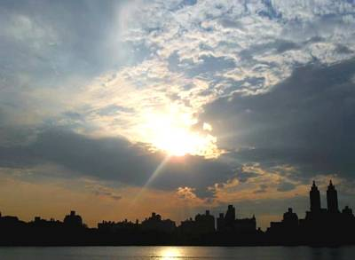 Sunset New York  Art Print