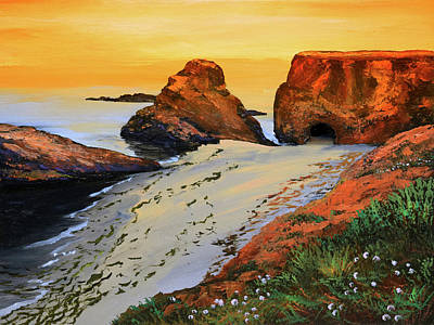 Painting - Sunset North Of Fort Bragg Ca by Frank Wilson
