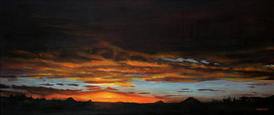 Painting - Sunset Northern Cape by Christopher Reid