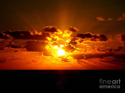 Photograph - Sunset Ocean 1 by Randall Weidner