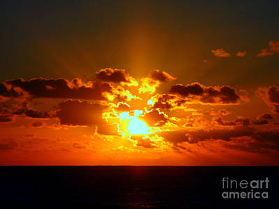 Photograph - Sunset Ocean 2 by Randall Weidner