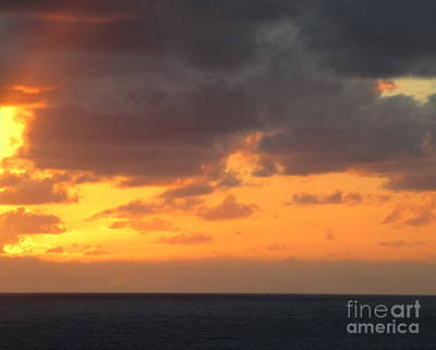 Photograph - Sunset Ocean 8 by Randall Weidner
