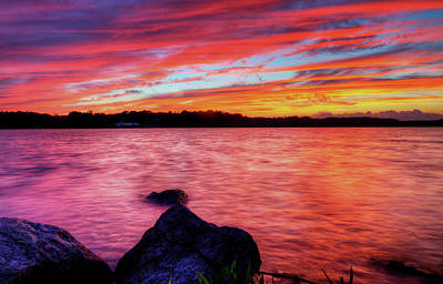Photograph - Sunset Of Fire by David Dufresne