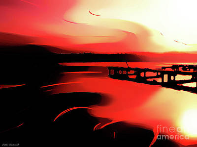 Digital Art - Sunset Of Fire by Eddie Eastwood