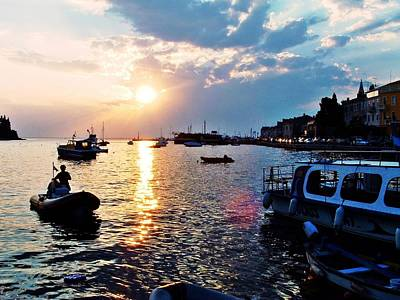 Photograph - Sunset Of Rovinj In Croatia by Dora Hathazi Mendes