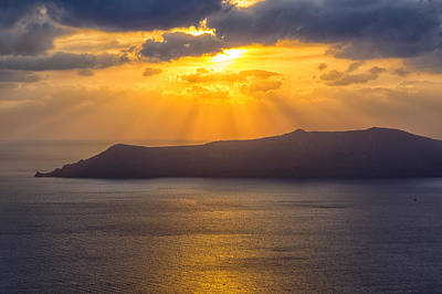 Photograph - Sunset On The Aegean Sea 3 by Kathy Adams Clark
