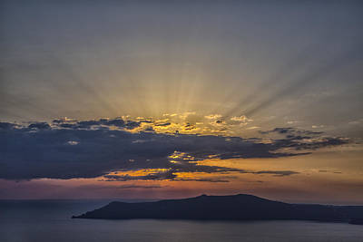Photograph - Sunset On The Aegean Sea 4 by Kathy Adams Clark
