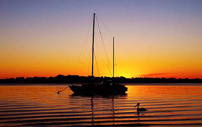 Photograph - Sunset Off Bribie Island by Susan Vineyard
