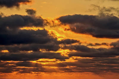 Photograph - Sunset Off Ecuador by John Haldane