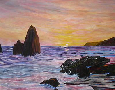 Olympic National Park Painting - Sunset Olympic National Park by Troy Rohn