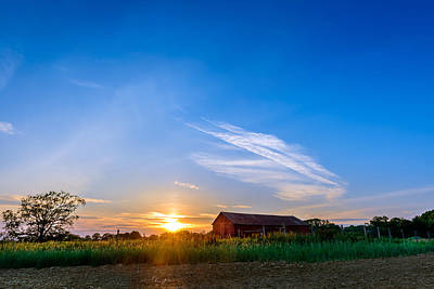 Photograph - Sunset On A Maryland Farm by Patrick Wolf