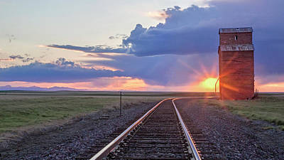 Photograph - Sunset On A Prairie Icon by Jack Bell