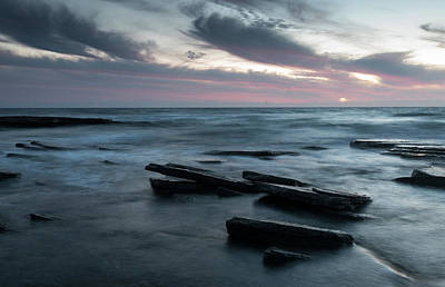 Kim Fearheiley Photography - Sunset on a rocky beach by Michalakis Ppalis
