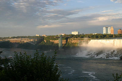 Photograph - Sunset On American Falls 2 by Living Color Photography Lorraine Lynch