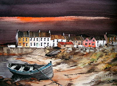 Painting - Sunset On Barna, Galway by Val Byrne