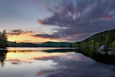 Photograph - Sunset On Bear Pond by Darylann Leonard Photography