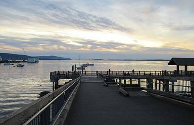 Photograph - Sunset On Bellingham Bay by Karen Molenaar Terrell