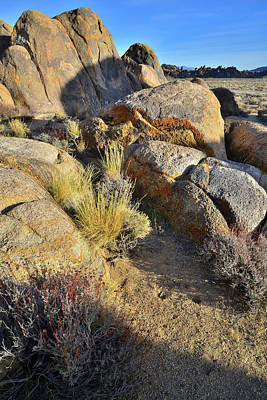 Photograph - Sunset On Boulders Of The Alabama Hills by Ray Mathis
