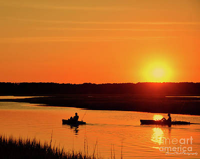 Photograph - Sunset On Broad Creek by Susan Cliett