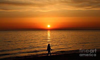 Photograph - Sunset On Buzzards Bay by Lennie Malvone