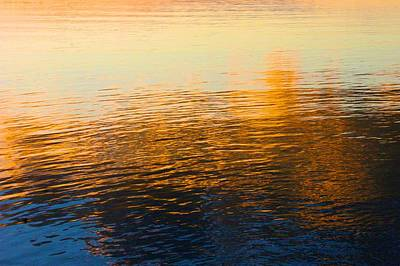 Photograph - Sunset On Calm Waters by Polly Castor