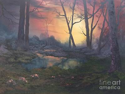Painting - Sunset On Cannock Chase  by Jean Walker