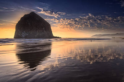 Sunset On Cannon Beach Print by Rick Berk