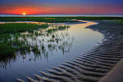 Cape Cod Sunset Photograph - Sunset On Cape Cod by Rick Berk