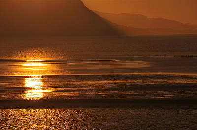 Photograph - Sunset On Coast Of North Wales by Harry Robertson