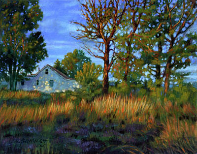 Sunset On Country Home Art Print by John Lautermilch