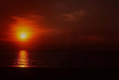 Photograph - Sunset On Darwin Beach by Gary Wonning