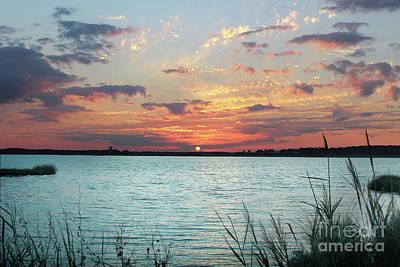 Bethany Beach Wall Art - Photograph - Sunset On Fenwick Island Delaware  by Delmarva Dreams