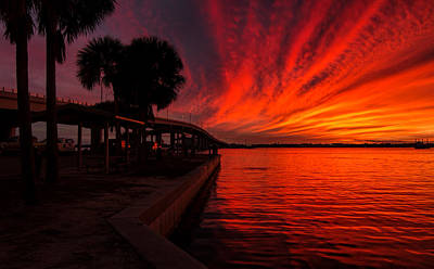 Photograph - Sunset On Fire by Dorothy Cunningham