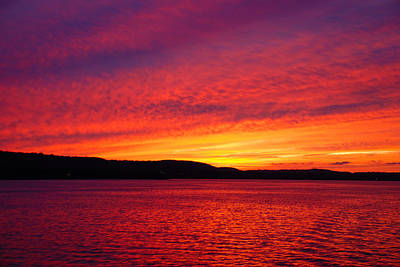Sunset On Fire Art Print by Larry Nielson