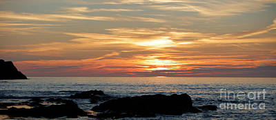 Photograph - Sunset On Fistral Beach, Cornwall, Uk by Nicholas Burningham