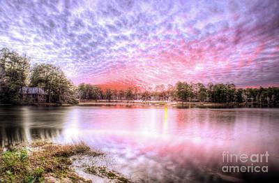 Sunset On Flint Creek Art Print