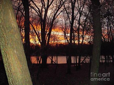 Photograph - Sunset On Fox River by Deborah Finley