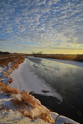 Photograph - Sunset On Frozen Nippersink Creek In Glacial Park by Ray Mathis