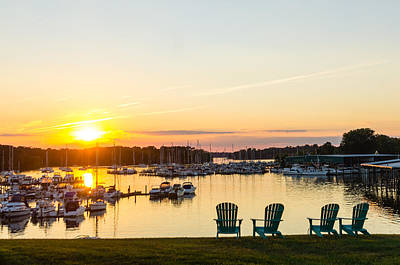 Photograph - Sunset On Georgetown Harbor by Steve Atkinson
