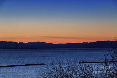 Sunset On Glorious Lake Champlain Art Print by Elizabeth Dow
