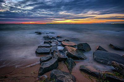 Photograph - Sunset On Great South Bay by Rick Berk