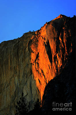 Sunset On Horsetail Fall Art Print by Jim And Emily Bush