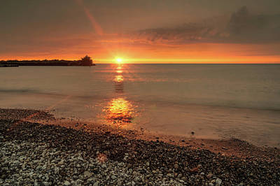 Photograph - Sunset On Huron Lake by Nick Mares